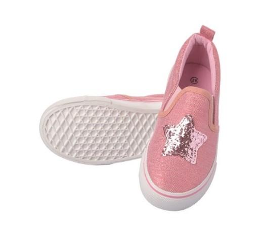 Слипоны розовые со звездой Topolino