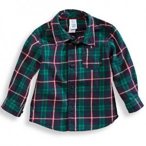 Рубашка в зеленую клеточку C&A