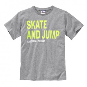 "Футболка серая ""Skate and jump"" Yigga"