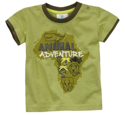 "Футболка зеленая ""Animal adventure"" Topomini"