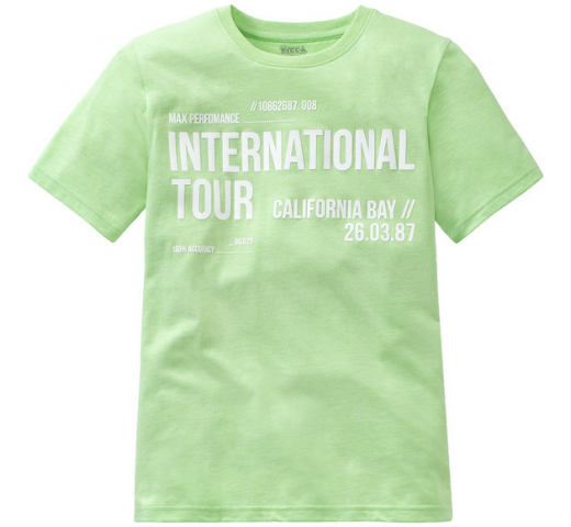 "Футболка салатовая ""International Tour"" Yigga"