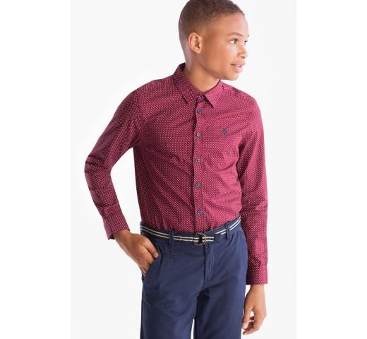 Рубашка бордовая в белый узор C&A
