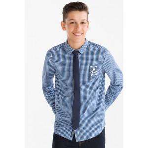 Рубашка в синюю клеточку с галстуком C&A