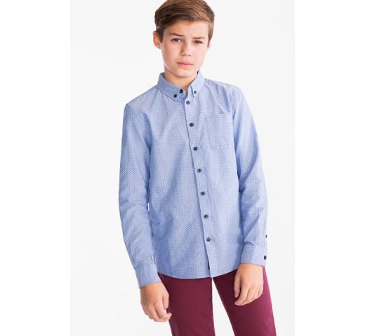 Рубашка голубая в синий горох C&A