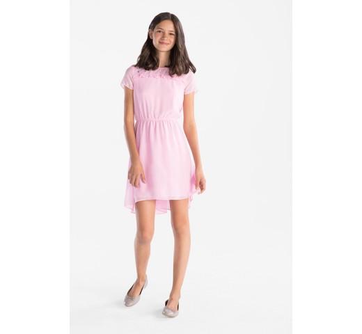 Платье розовое с камушками C&A