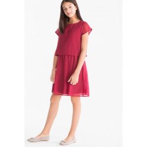 Платье бордовое C&A