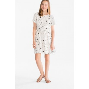 Платье белое в звездочки C&A