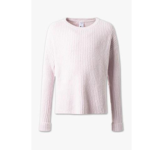 Пулловер розовый с блестящей нитью  C&A