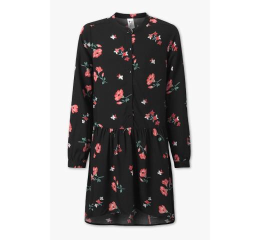 Платье черное в цветы C&A
