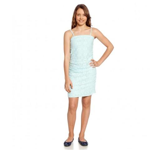 Платье ажурное голубое
