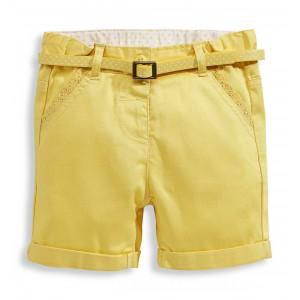Шорты желтые с пояском C&A
